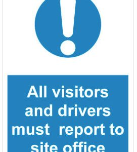 all visitors must report to site office (1)